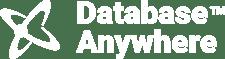 Database anywhere - white logo with ATOM