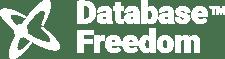 Database freedom - white logo with ATOM