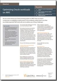 Optimizing Oracle workloads on AWS datasheet cover